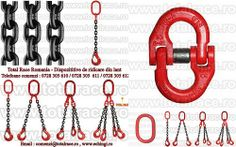 Dispozitiv complet de ridicare din lant : inel , lant , cuple si carlige