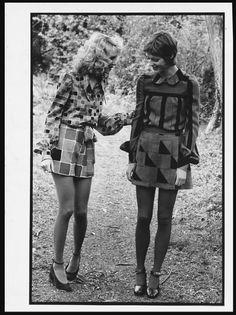Models wearing designs by Daniel Hechter, 1971.