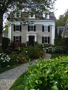 New England Home with traditional garden by cosmokozak, via Flickr