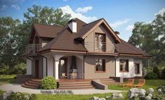 Small House Layout, House Layouts, Dream Home Design, Home Design Plans, Modern Bungalow House, Cute House, Design Case, Pool Houses, Home Fashion