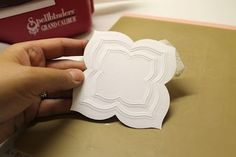 Embossing vs cutting with your Spellbinder dies. Love it!