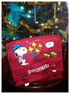 Snoopy Woodstock Backpack Red 1980s Super Cute by VintyThreads, $24.11 Use coupon code 30OFFOFF for 30% discount!!!