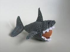 Eierwärmer Hai häkeln egg crochet