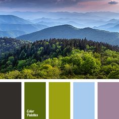 this looks so much like where I grew up in the Blue Ridge mountains - pretty sunset tones of greens, pale blue and mauve