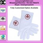 MASONIC GLOVES MASONIC STANDARD RED SQUARE AND COMPASS COTTON WHITE GLOVES MASONIC REGALIA Full Customized option available  our email: rizwan@youngbirdent.com Website: www.youngbirdent.com Cell/whatsapp/Viber: 0092-322-7954478