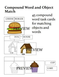 This is a 45 compound word matching task that helps students learn compound words as well as matching the visual for each word.