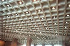 concrete waffle ceiling - Google Search