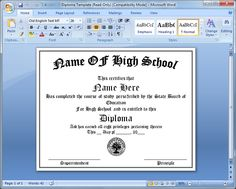 Free middle school diploma templates geographics my style printable high school diploma 1973 free fake high school diploma yelopaper Choice Image