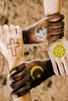 Peace between religions and colors. Do you think this will be possible one day? Diversity Poster, Unity In Diversity, We Are All One, We Are The World, Republic Day India, Indian Flag, Indian Army, Religious Symbols, World Religions