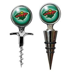 NHL Minnesota Wild Cork Screw and Wine Bottle Topper Set by Great American Products. NHL Minnesota Wild Cork Screw and Wine Bottle Topper Set.