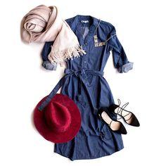 Feelin' those Monday blues in more ways than one. #barcelonashirtdress