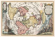 A series of antique maps of the world