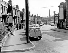 Broadfield Road looking towards London Road, Sharrow, No Vector Electrical Co. South Yorkshire, Electric Power, My Town, Classic Mini, Engineers, Sheffield, Britain, 1960s, The Past