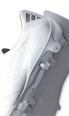 Adidas football boot. White on white. Tonal