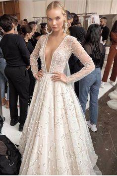 #Bridal beauty from #BERTA NYC Stunning Wedding Dresses, Dream Wedding Dresses, Bridal Dresses, Wedding Gowns, Couture Dresses, Wedding Bells, Wedding Colors, Wedding Styles, Berta Bridal