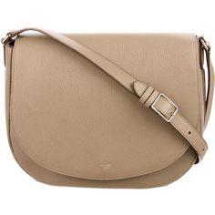 Pre-owned C?line Trotteur Messenger Bag (€1.385) ❤ liked on Polyvore featuring bags, messenger bags, purses, bolsas, bolsos, neutrals, zip messenger bag, celine messenger bag, courier bag and snap bag