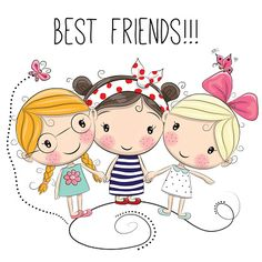 Illustration about Three Cute cartoon girls on a white background. Illustration of computer, characters, cute - 75671772 Cartoon Drawings Of People, Cartoon People, Cute Cartoon Girl, Cartoon Cartoon, Cartoon Characters, Cute Images, Cute Pictures, Cartoon Mignon, Art Mignon
