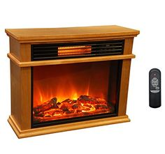 Buy LifeSmart Large Deluxe Mantle Portable Electric Infrared Quartz Fireplace Heater at Wish - Shopping Made Fun Electric Fireplace Heater, Electric Fireplace Tv Stand, Electric Fireplaces, Oak Mantle, Fireplace Mantle, Infrared Fireplace, Portable Heater, Infrared Heater, Cozy Living Rooms
