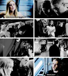 """Sara """"I'm not a fan of feelings"""" Lance asking about Leonard Snart's feelings. #LegendsofTomorrow #Season1 #1x10"""