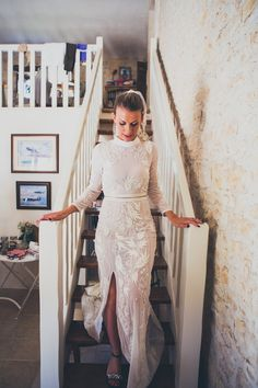 Beautiful boho personalised wedding dresses from Hermione de Paula