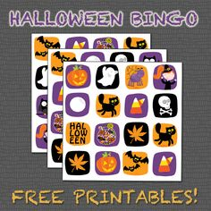 Halloween Bingo for the kids! Free download - print at home.