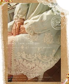 luxury lace cardigan...