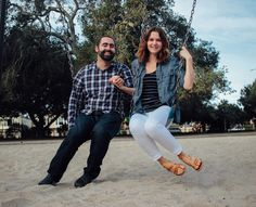 one year anniversary San Mateo Central Park couple portrait session. Photography by Krust.