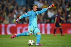 Goalkeeper Marc-Andre ter Stegen of Barcelona takes a goal kick during the UEFA Champions League Semi Final, first leg match between FC Barcelona and FC Bayern München at Camp Nou on May 6, 2015 in Barcelona, Catalonia.