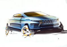 Crossover (Jeep?) design sketch / Follow my MOTO sketches  board!