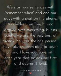 Meaningful Sister Quotes, Soul Sister Quotes, Little Sister Quotes, Sister Quotes Funny, Funny Quotes About Sisters, Friend Quotes, Quotes Quotes, Happy Birthday Messages Friend, Happy Birthday Bestie Quotes