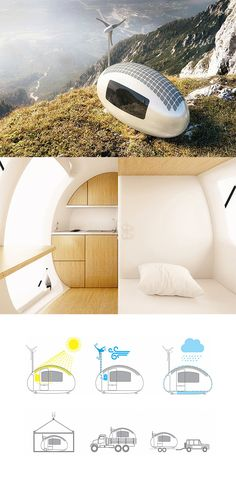 'Ecocapsule' is the first truly independent house, powered by solar and wind energy, because of its small size, it can be placed nearly anywhere on the planet  and easily moved for a change of scenery... READ MORE at Yanko Design !