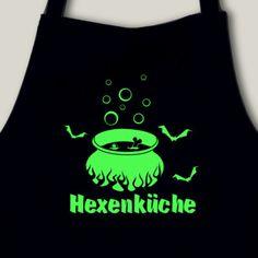 Schürze Küchenschürze 'Hexenküche' neon. Küchenschürze 'Hexenküche', 75x100cm, neon Flexdruck