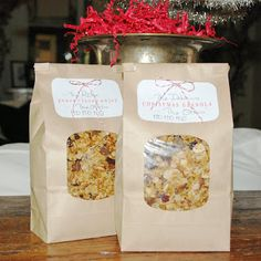 Prettie Parties: CHRISTMAS GRANOLA GIFTS