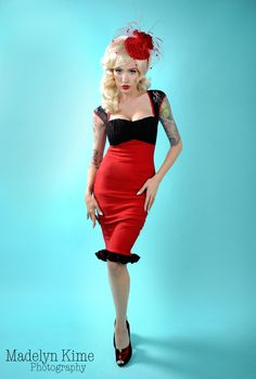 Pin-up Girl in Red | Tattoo Ideas & Inspiration - Pinups | Madelyn Kime Photography