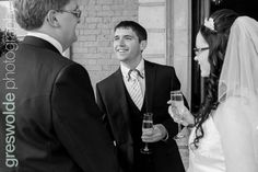 Guest chats to the Bride and Groom outside the hall at Weston Park Weston Park, Groom, Wedding Photography, Bride, Wedding Bride, Bridal, Grooms, Wedding Photos, Wedding Pictures