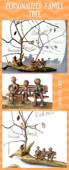 Personalized family tree will make a lovely gift for any occasion. Birthday, Christmas, Father's Day, Mother's Day, Copper Anniversary, Thank you, Get Well Soon,family tree sculpture, Xmas etc. #treekeepsake #familynamestree #familypresent #myfamilytree#modernfamilytree #cooperpresent #decorativetrees #Copperanniversary #7thyearanniversary #ancestrytree#copperpresent #familytreesculpt #TreePersonalized #DigentusCraft