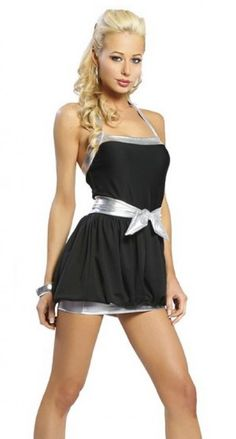 Extravagantes Nacholder #Partykleid in verspieltem Ballon #Design und elegantem schwarz/silber.