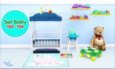 The Sims 4 | Miguel Creations Baby Set 3t4 Converstion | buy mode crib nursery new objects