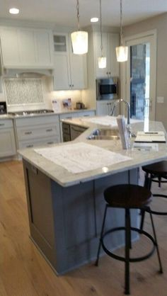 Image Result For Angled Kitchen Island Ideas