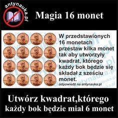 Zagadka logiczna, 16 monet