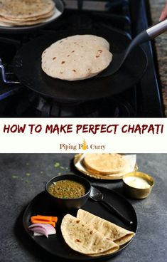 Roti, also called Chapati or Phulka, is a whole wheat Indian flatbread staple in Indian homes. Let's learn how to make soft roti's every time! Chapati Recipes, Paneer Recipes, Lentil Recipes, Curry Recipes, Vegetarian Recipes, Cooking Recipes, Flatbread Recipes, Indian Fish Recipes, North Indian Recipes