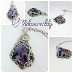 Clockwork reversible tiffany stone necklace in sterling silver.