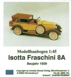 Isotta Fraschini 8A (ASV) из бумаги, модели бумажные скачать бесплатно…