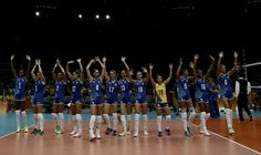 Brazil beats Cameroon (3-0)  Women's Volleyball Group A on Day 1 of the Rio 2016 Olympic Games at the Maracanazinho on August 6, 2016 in Rio de Janeiro, Brazil.