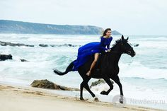 Horses, especially black ones....and honestly, who wouldn't want to wear a couture dress and ride a horse on the beach!?