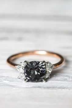 Click for jewelry advice. Bling Jewellery. Colored Engagement Rings, Black Diamond Engagement, Solitaire Engagement, Amazing Engagement Rings, Alexandrite Engagement Ring, Alexandrite Ring, Wedding Jewellery Inspiration, Engagement Inspiration, Engagement Ideas