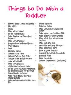 Things to do with a toddler