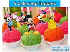Printable mickey mouse clubhouse Cupcake Topper, Cake Pop Topper,picks, decor #Disney #party
