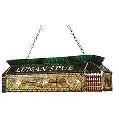 40 Inch L Personalized Lunans Pub Oblong Pendant - Custom Made