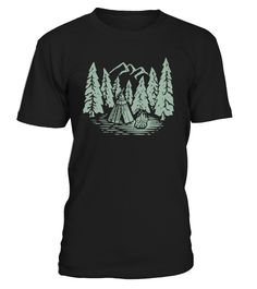 CAMPING IN FOREST  #gift #idea #shirt #image #funny #campingshirt #new